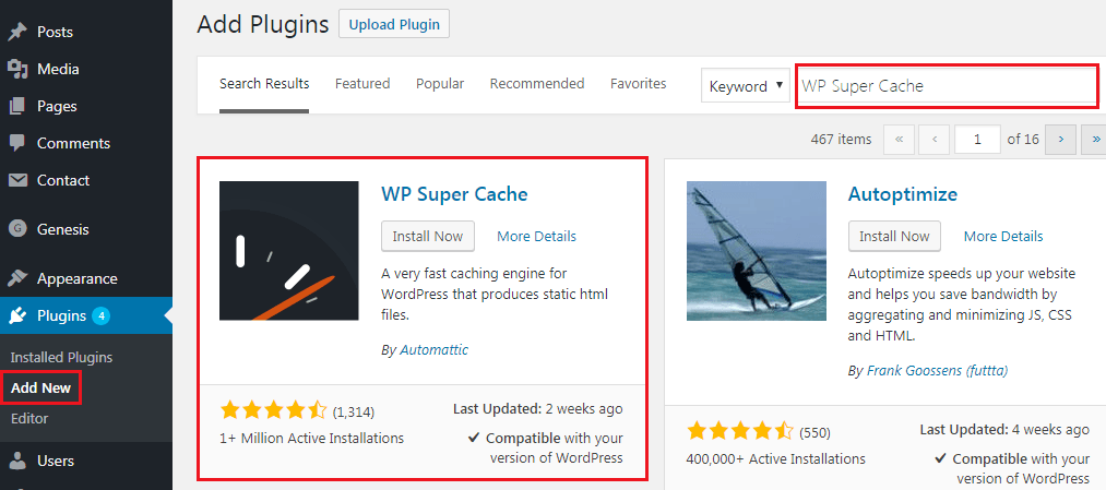 How to Add Caching Engine to WordPress Website - Installing WP Super Cache Pluguin