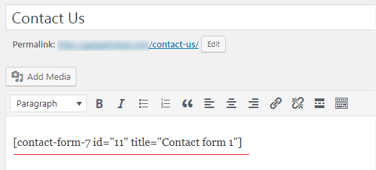 How to Add a Contact form to WordPress - Shortcode Inserting