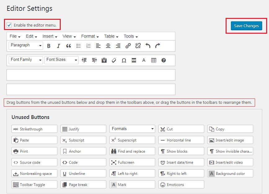 How to Enhance Your WordPress Visual Editor - TinyMCE Editor Settings