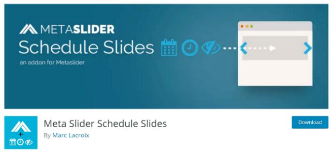 Meta Slider Shedule Slides Addon
