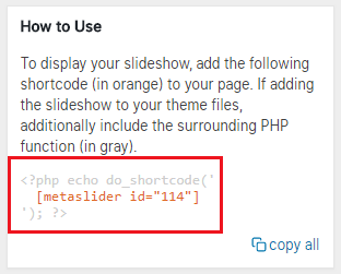 Your Slider Shortcode and Script