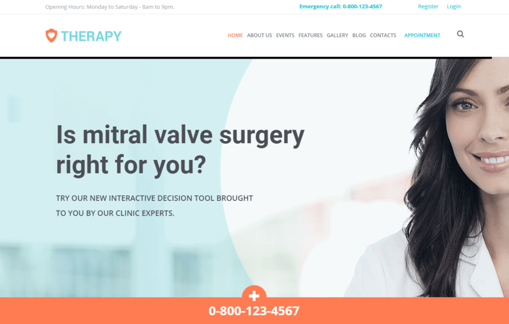 Therapy Health and Medical WordPress Theme