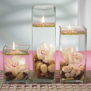 essential oil candles - water candles