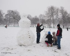 Snow family building