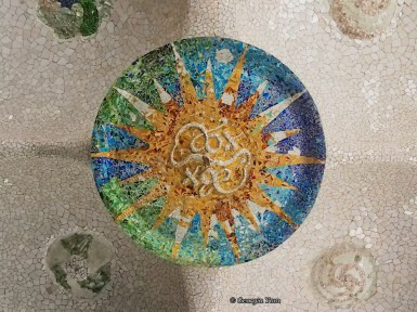 blue-green sun mosaic