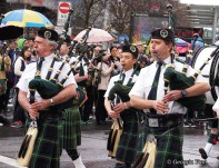 dry bagpipers parade