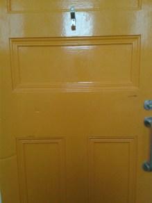 Funky multicoloured toilet doors