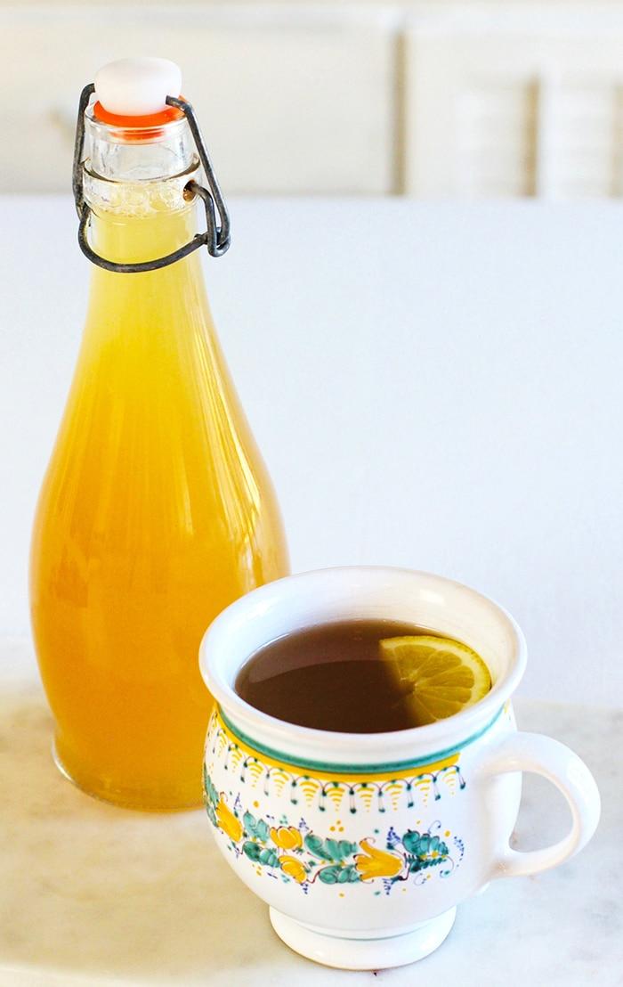 receita de chá de açafrão e gengibre