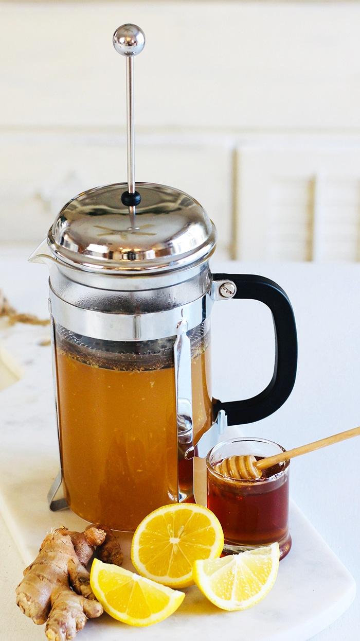 receita de chá de açafrão e gengibre na Imprensa Francesa