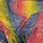Rainbow stoff med sølv