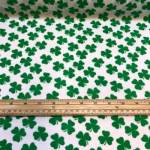 Polycotton grønn med hvite blader