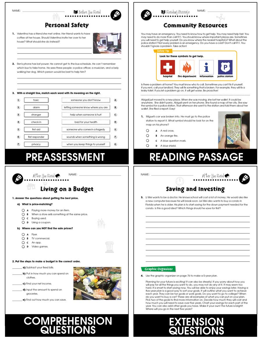 hight resolution of Practical Life Skills Big Book - Grades 9 to 12+ - Print Book - Lesson Plan  - Classroom Complete Press
