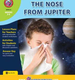 The Nose From Jupiter (Novel Study) - Grades 3 to 6 - Print Book - Lesson  Plan - Rainbow Horizons [ 1125 x 900 Pixel ]