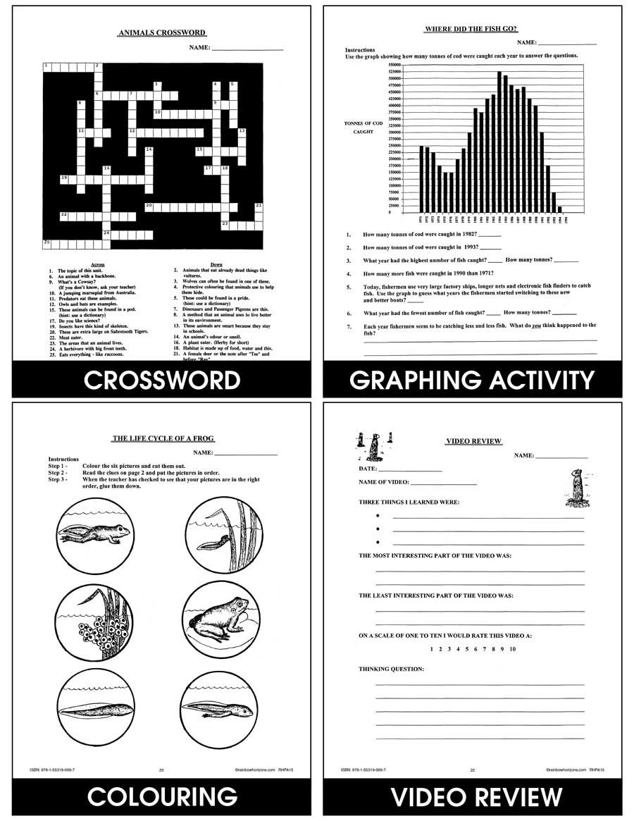 medium resolution of Animals: Classification \u0026 Adaptation - Grades 4 to 6 - Print Book - Lesson  Plan - Rainbow Horizons