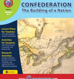 Confederation: The Building of a Nation - Grades 8 to 9 - Print Book -  Lesson Plan - Rainbow Horizons [ 1125 x 900 Pixel ]