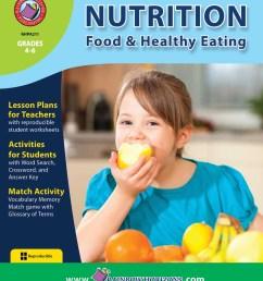 Nutrition: Food \u0026 Healthy Eating - Grades 4 to 6 - Print Book - Lesson Plan  - Rainbow Horizons [ 1125 x 900 Pixel ]
