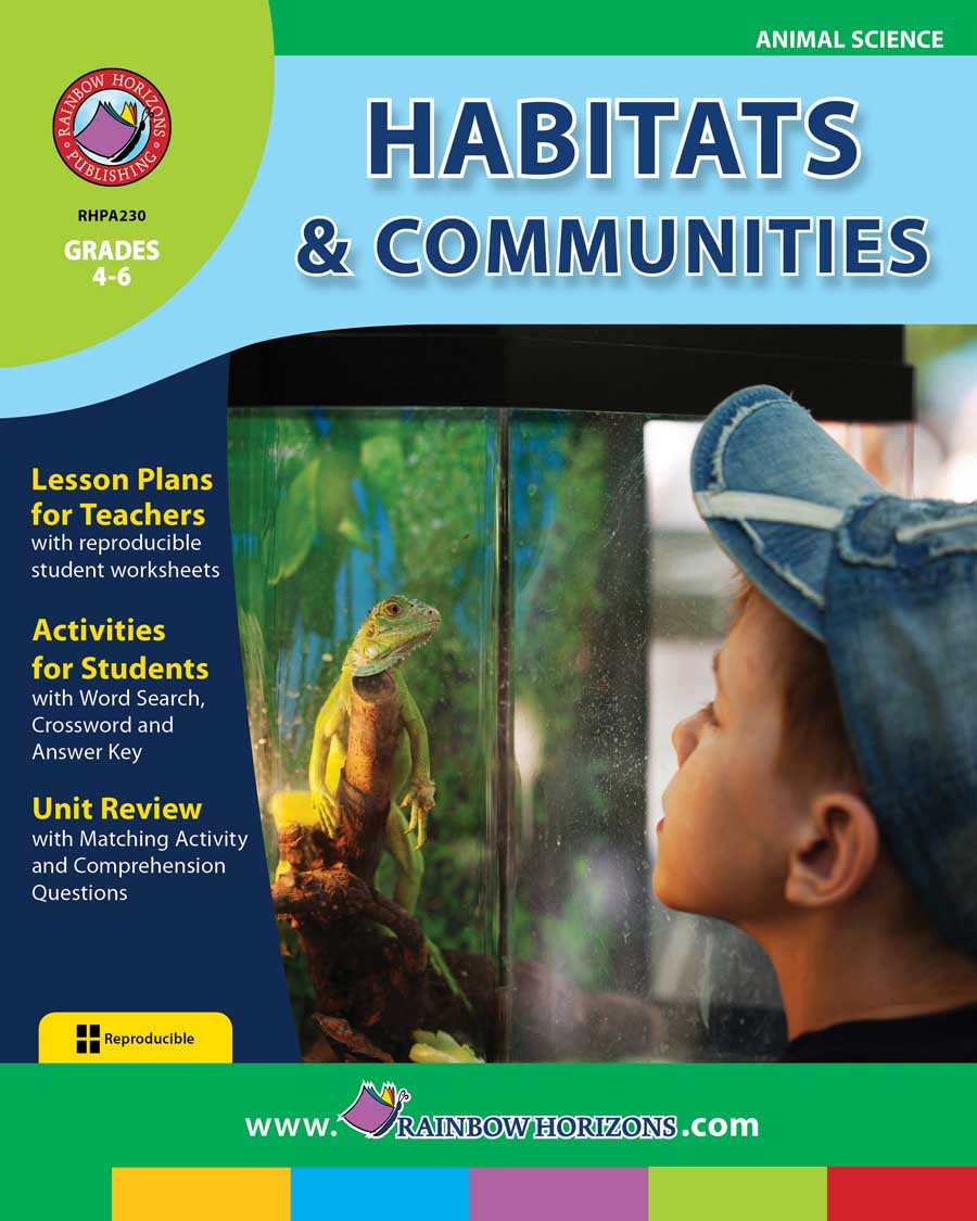 hight resolution of Habitats \u0026 Communities - Grades 4 to 6 - Print Book - Lesson Plan - Rainbow  Horizons