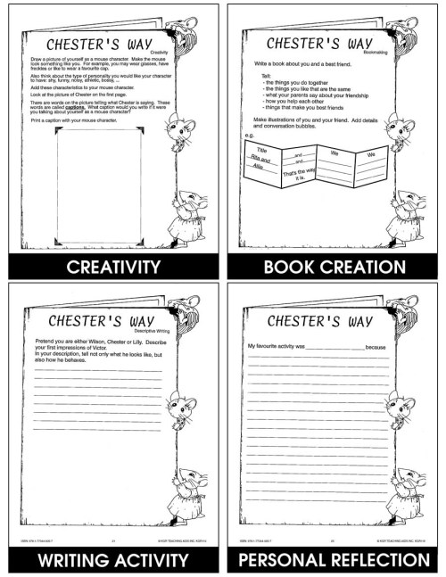 small resolution of CHESTER'S WAY - STUDY GUIDE - Grades 2 to 4 - eBook - Lesson Plan - Rainbow  Horizons