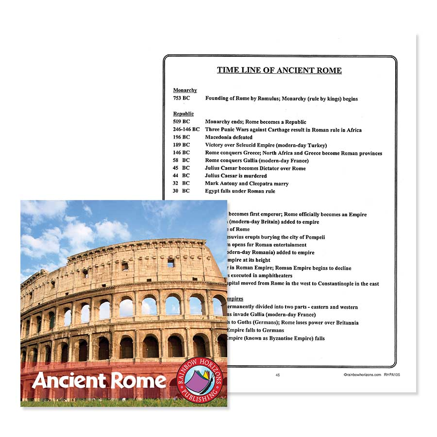 hight resolution of Ancient Rome: Timeline of Ancient Rome - WORKSHEET - Grades 4 to 6 - eBook  - Worksheet - Rainbow Horizons