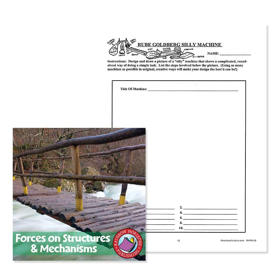 medium resolution of Forces On Structures: Rube Goldberg Silly Machine - WORKSHEET - Grades 4 to  7 - eBook - Worksheet - Rainbow Horizons