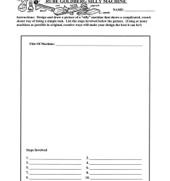 Forces On Structures: Rube Goldberg Silly Machine - WORKSHEET - Grades 4 to  7 - eBook - Worksheet - Rainbow Horizons [ 1165 x 900 Pixel ]