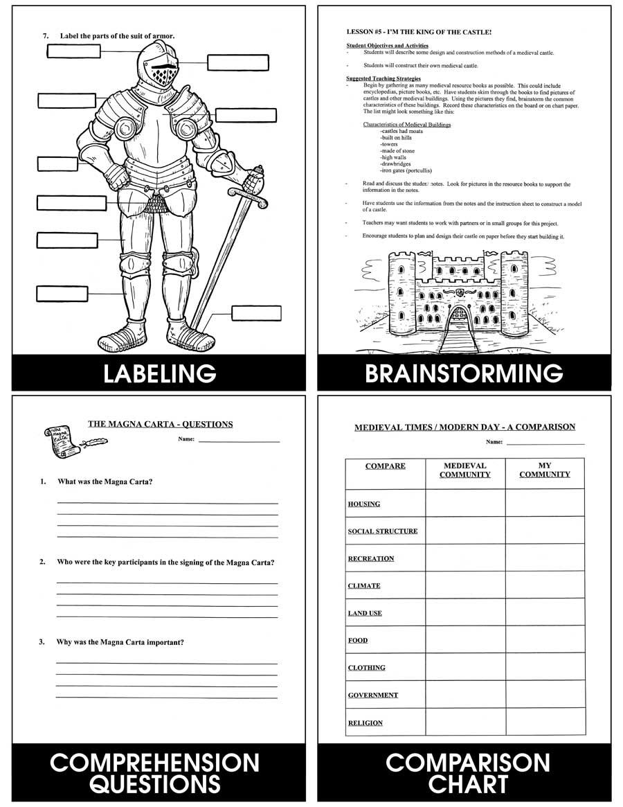 medium resolution of Medieval Times - Grades 4 to 6 - eBook - Lesson Plan - Rainbow Horizons
