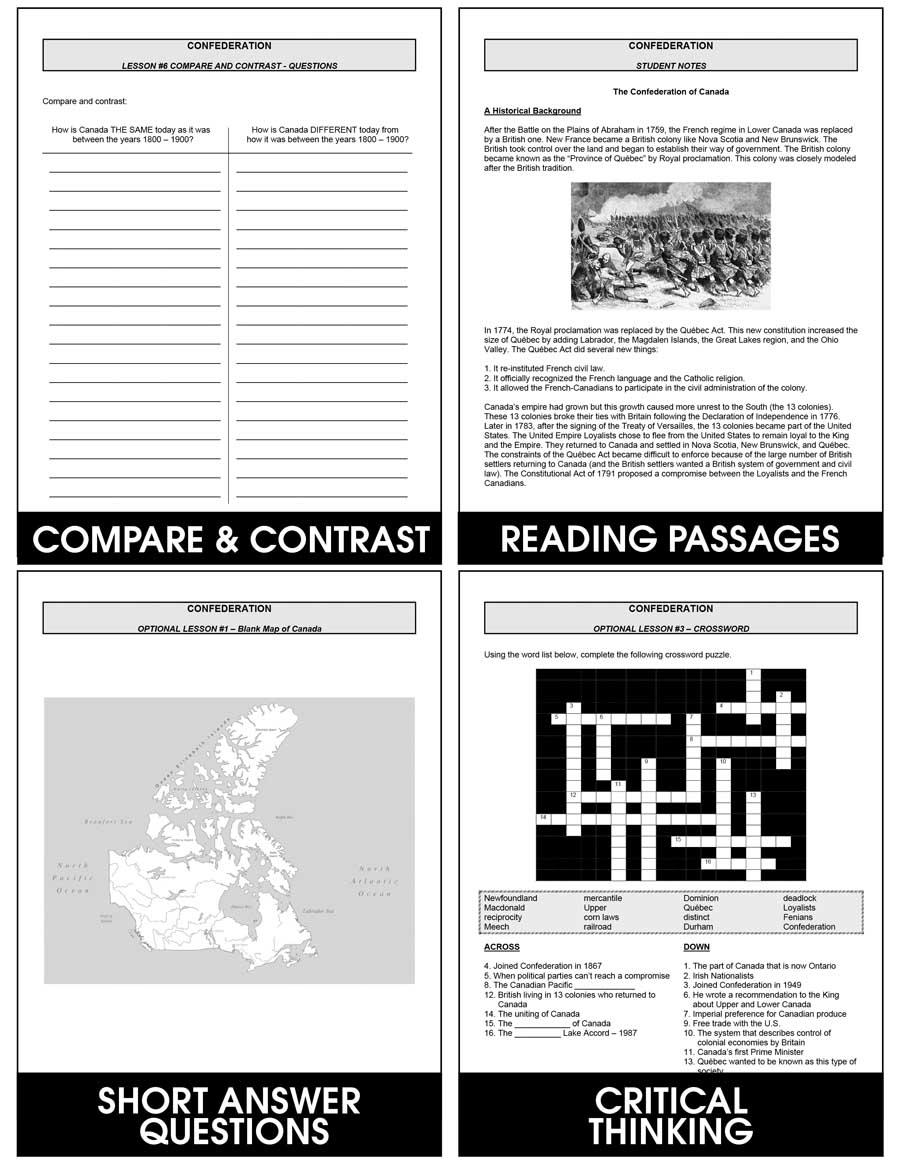 medium resolution of Confederation - Grades 7 to 8 - eBook - Lesson Plan - Rainbow Horizons