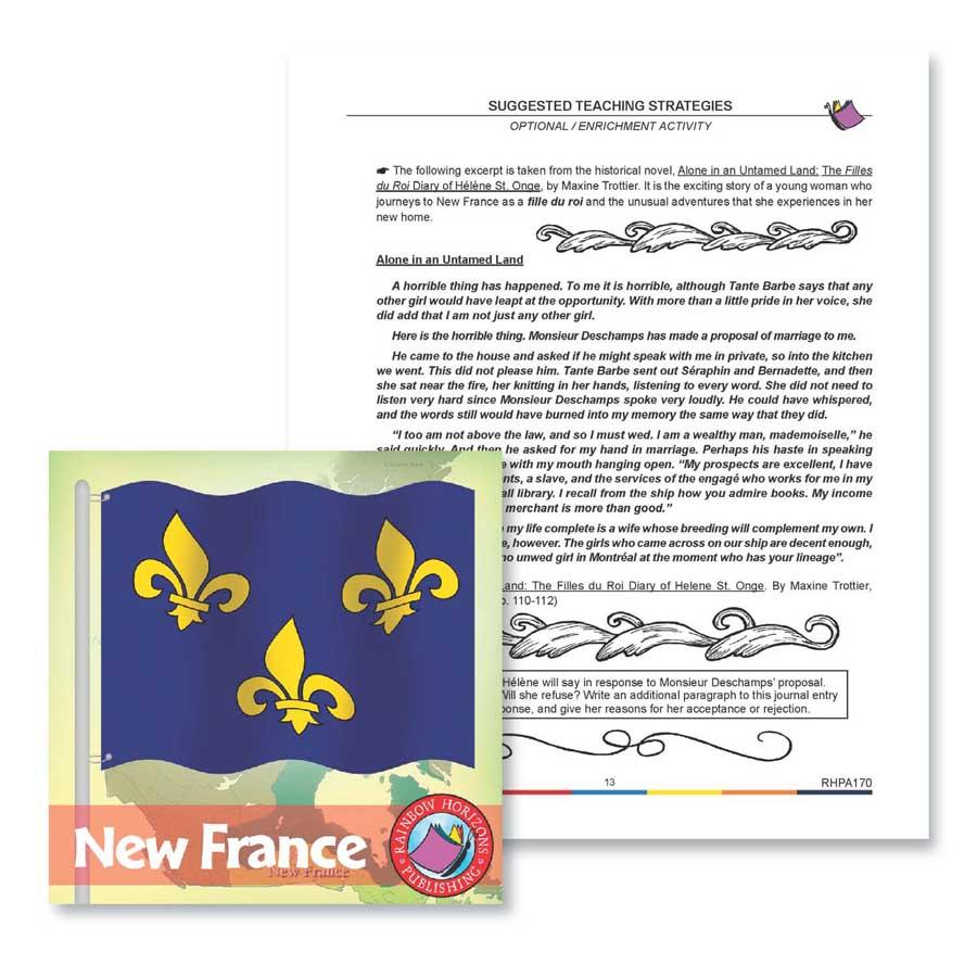hight resolution of New France: Enrichment Activity - WORKSHEET - Grades 7 to 8 - eBook -  Worksheet - Rainbow Horizons