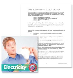 Electricity: Class Project Outline - WORKSHEET - Grades 4 to 7 - eBook -  Worksheet - Rainbow Horizons [ 900 x 900 Pixel ]