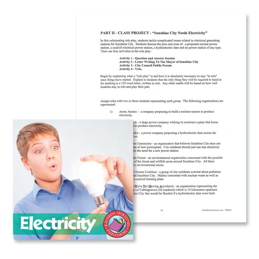 medium resolution of Electricity: Class Project Outline - WORKSHEET - Grades 4 to 7 - eBook -  Worksheet - Rainbow Horizons