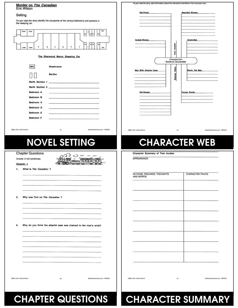 medium resolution of Murder On The Canadian - Grades 6 to 8 - eBook - Lesson Plan - Rainbow  Horizons
