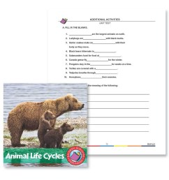 Animal Life Cycles: Unit Test - WORKSHEET - Grades 2 to 3 - eBook -  Worksheet - Rainbow Horizons [ 900 x 900 Pixel ]