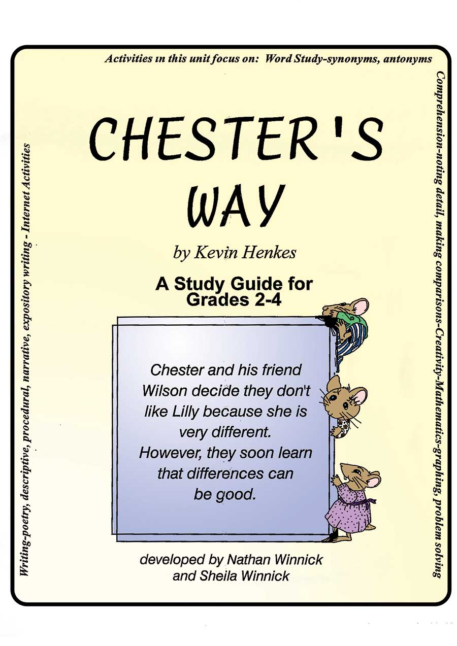 hight resolution of CHESTER'S WAY - STUDY GUIDE - Grades 2 to 4 - eBook - Lesson Plan - Rainbow  Horizons