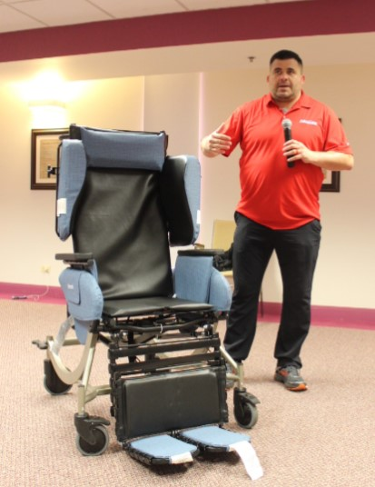 broda chair folding floor sofa new synthesis available to patients rainbow hospice and palliative care rhpc recently facilitated an in service presentation on advacare s v4 tilt recliner this is