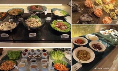 Salad and Pasta station at Midas Café Buffet at Midas Hotel and Casino