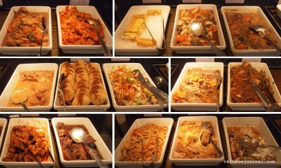 An assortment of Sambo Kojin's cooked food