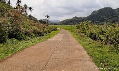 Panoramic view on the way to Gota Village Caramoan