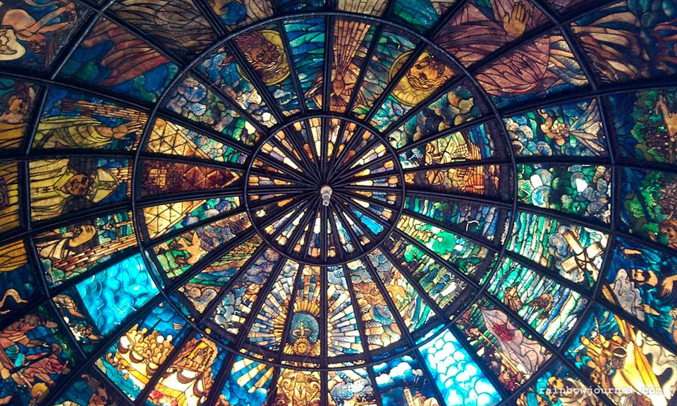 Stained glass mosaic, Naga Metropolitan Cathedral