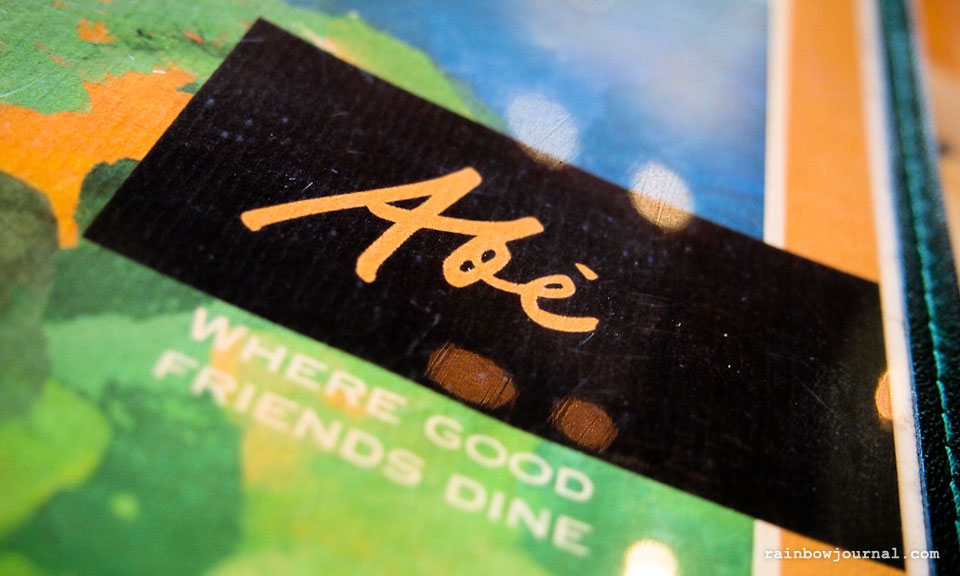 Abe Restaurant at MOA, Where good friends dine