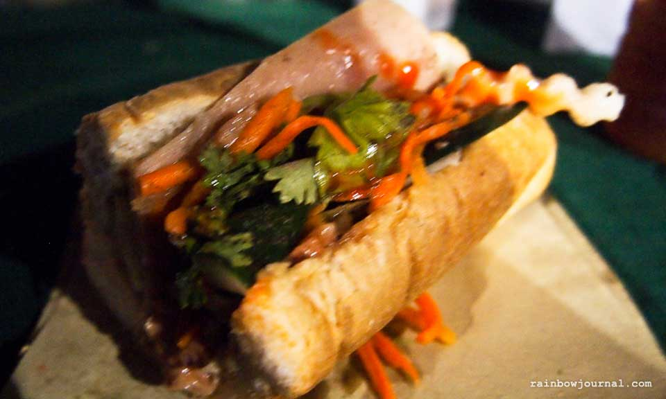 Banh Mi Mercato Centrale night food market tent at the Fort Bonifacio Global City (BGC), Taguig