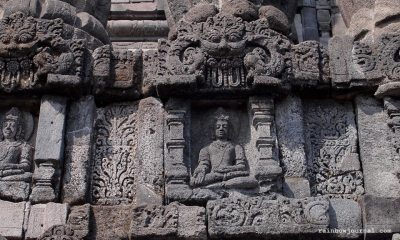 Bas Relief and other ornamentation at Prambanan temples in Indonesia