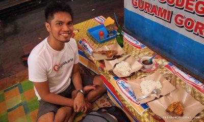At one of the Lesahan along Malioboro Street, Yogyakarta, Indonesia