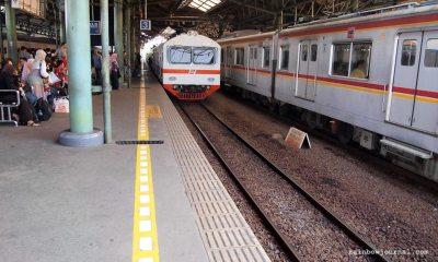Train at Gambir Station Jakarta, train from Jakarta to Yogyakarta