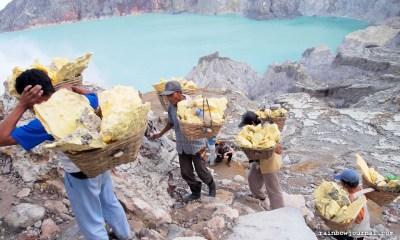 Sulfur Miners of Kawah Ijen in Indonesia