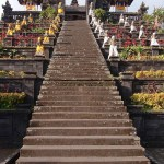 Besakih is terraced high up the slopes of the highest point on the island