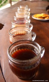We tried 8 different flavors, if you will, of coffee.