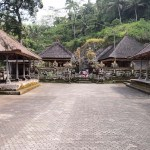 The central courtyard of Gunung Kawi.