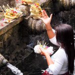 There's a solemn vibe to Tirta Empul.