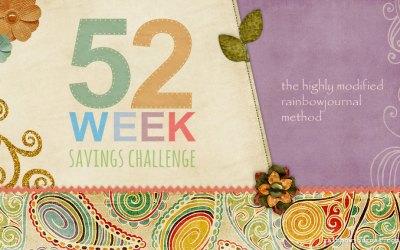 The 52-Week Savings Challenge: The Highly Modified Rainbow Journal Method