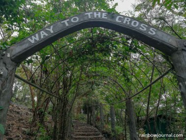 Steps leading to the stations of the cross at Enchanted Cave Resort Bolinao